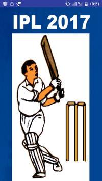 2017 IPL T20 Cricket Schedule poster