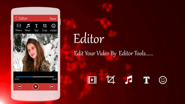 Photo Video Editor with Song screenshot 1