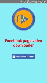 Video downloader for facebook page apk screenshot