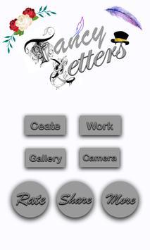 Fancy Letter Wallpaper Maker poster