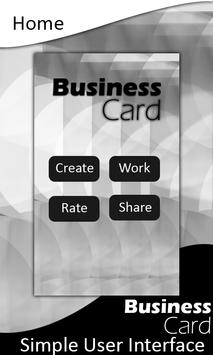Business Card Maker poster
