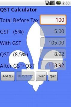 QST Calculator (Free) for Android - APK Download