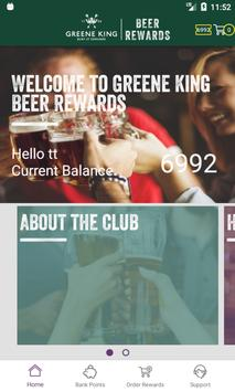 Greene King Beer Rewards poster