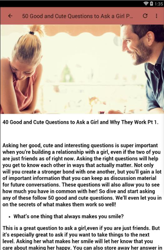 nice questions to ask a girl