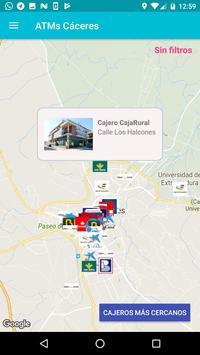 ATMs Cáceres captura de pantalla de la apk