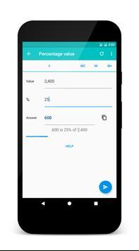 Quick Percentage Calculator apk screenshot