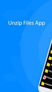 Quick File Unzip or Zip Unzip Files App poster