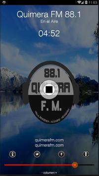 QUIMERA FM 88.1 - VILLA PEHUENIA - ALUMINÉ poster
