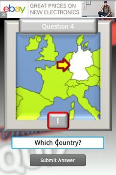 Geography Test Europe screenshot 1