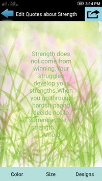 Quotes About Strength apk screenshot