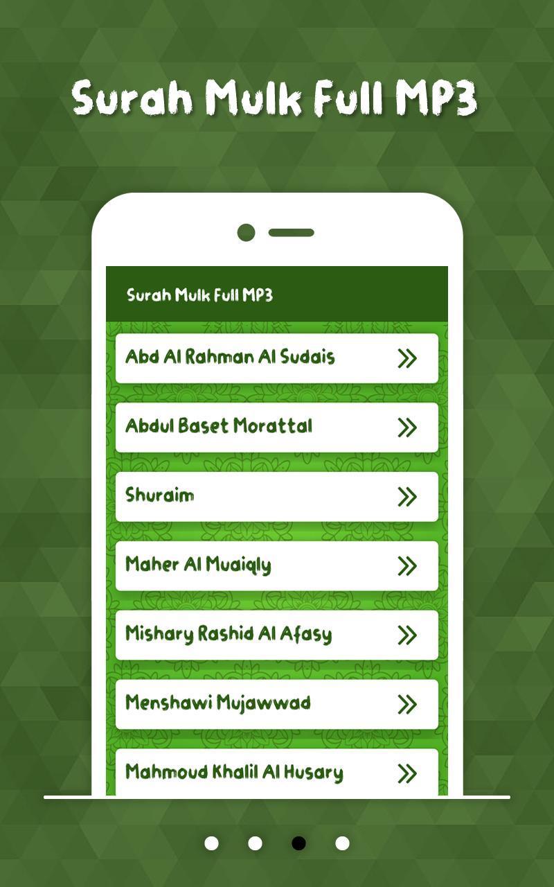 Surah Mulk Full MP3 for Android - APK Download