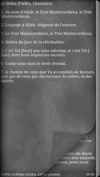 Coran en français apk screenshot