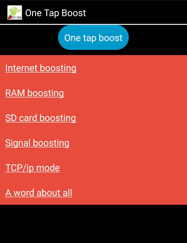 1 tap boost for android