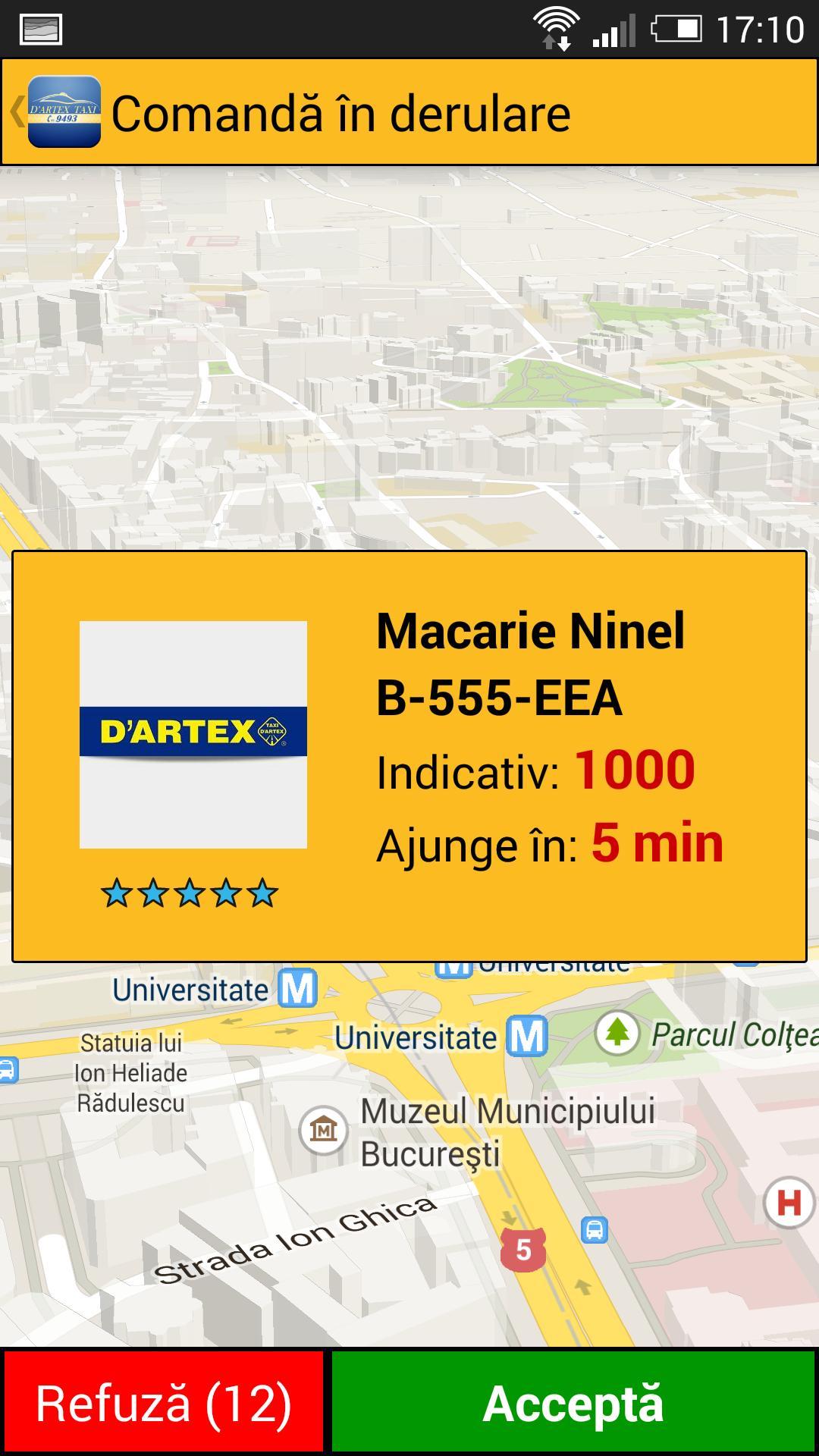 Dartex Taxi - Locatii Fixe poster