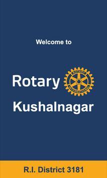 Rotary Kushalnagar poster