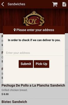 Roy's Restaurant apk screenshot