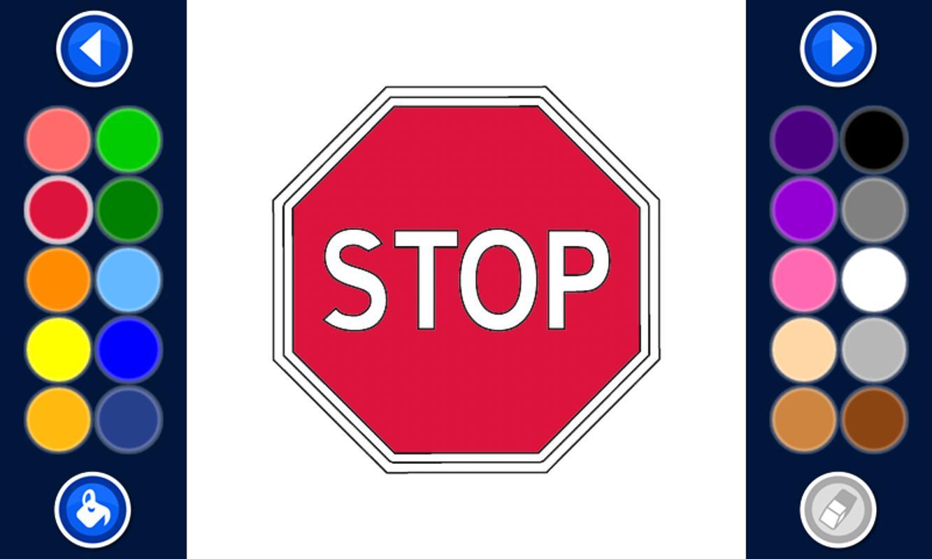 Road Signs Coloring Pages Free APK Baixar