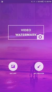 Video Watermark poster