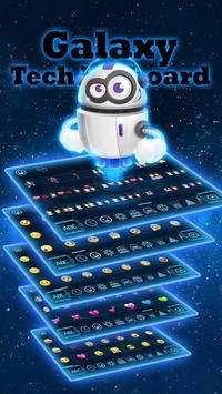 galaxy robot blue keyboard neon space stars screenshot 1
