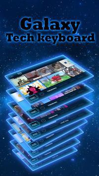 galaxy robot blue keyboard neon space stars screenshot 2