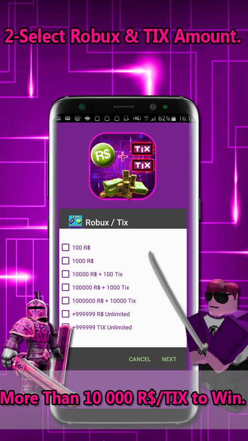 Free Robux Simulator Tix For Roblox Generator For Android Apk