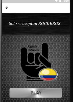 Radios De Rock Colombia - Metal y Rock en español apk screenshot