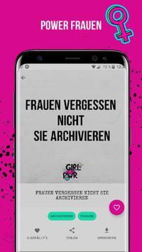 Freche Sprüche Bilder Girl Power apk screenshot