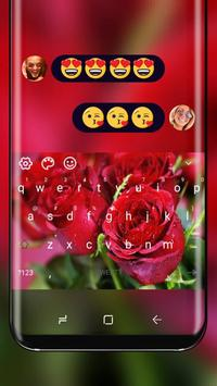 Love Red Rose Keyboard Romantic Theme poster