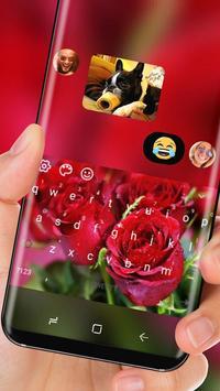 Love Red Rose Keyboard Romantic Theme apk screenshot
