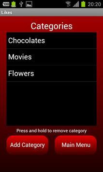 Romance Reminder screenshot 1