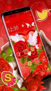 Rose Pigeon Love Theme screenshot 7