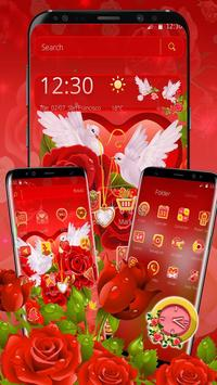 Rose Pigeon Love Theme screenshot 2