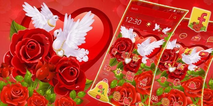 Rose Pigeon Love Theme screenshot 3