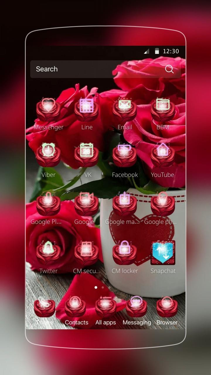 Rose Love Launcher for Android - APK Download