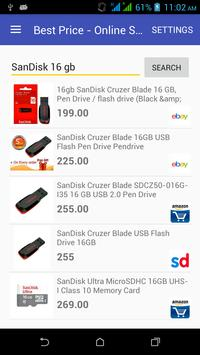Compare Price at Online shops apk screenshot
