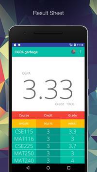 CGPA garbage apk screenshot