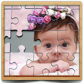 cute baby photo Jigsaw puzzle game icon