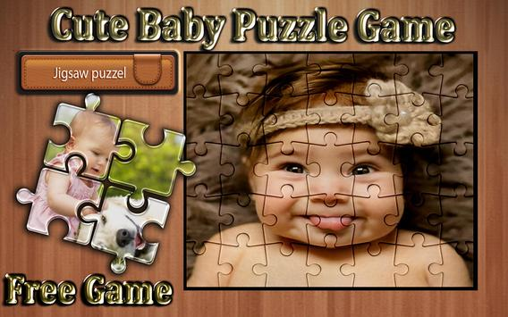 cute baby photo Jigsaw puzzle game poster