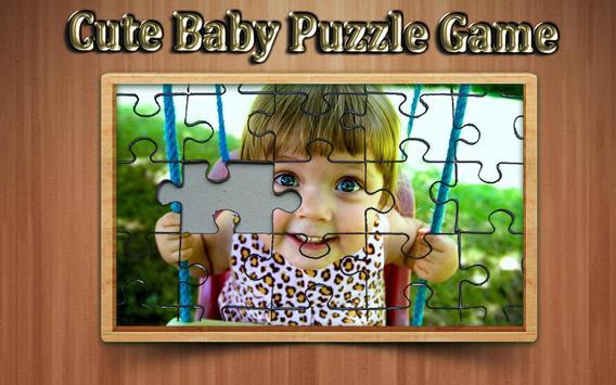 cute baby photo Jigsaw puzzle game screenshot 11