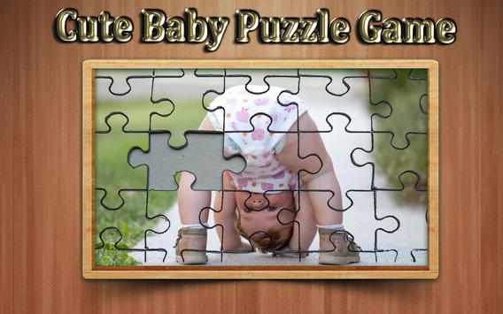 cute baby photo Jigsaw puzzle game screenshot 1