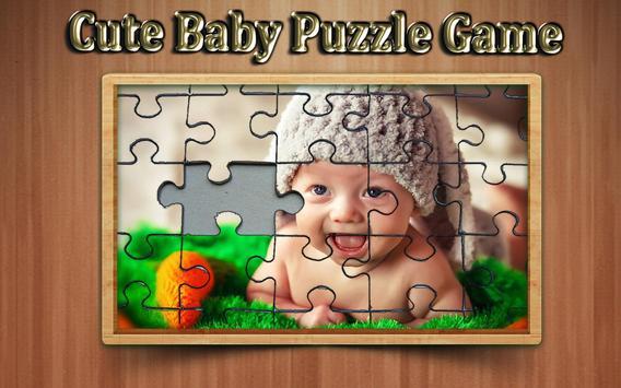 cute baby photo Jigsaw puzzle game screenshot 3