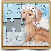 cute dog photo Jigsaw puzzle game icon