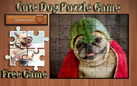 cute dog photo Jigsaw puzzle game poster