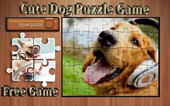 cute dog photo Jigsaw puzzle game screenshot 12