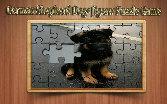 german shepherd dogs Jigsaw Puzzle Game poster