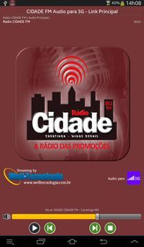RADIO CIDADE FM - CARATINGA MG screenshot 1