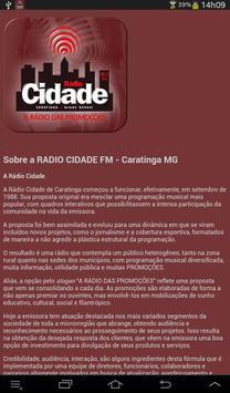 RADIO CIDADE FM - CARATINGA MG screenshot 5