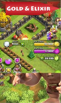 gems on coc- Clash of clans poster