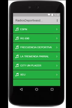 Radios deportivas de México apk screenshot