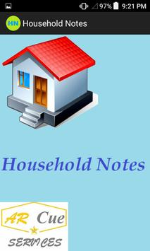 HouseHold Notes poster